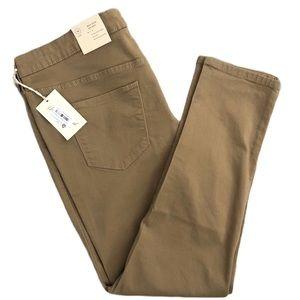 Universal Thread Tan Skinny Mid-Rise Jeans Size 16